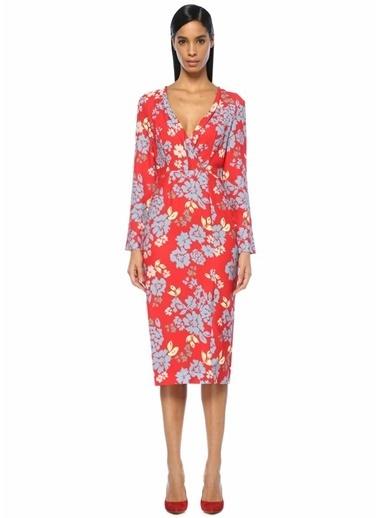 Cameo Çiçek Baskılı Midi Elbise Renkli